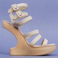 OPENING CEREMONY VIOLET STRAP CUT-OUT CLOG - CREAM/NATURAL - WOMEN - FOOTWEAR - WEDGES