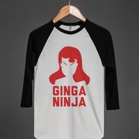 Ginga Ninja-Unisex White/Black T-Shirt