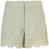Mint Cutwork Hem Detail Shorts - Shorts - Clothing - Topshop USA