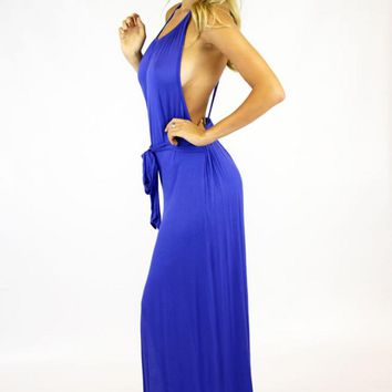 MAXI DRESS- ROYAL BLUE