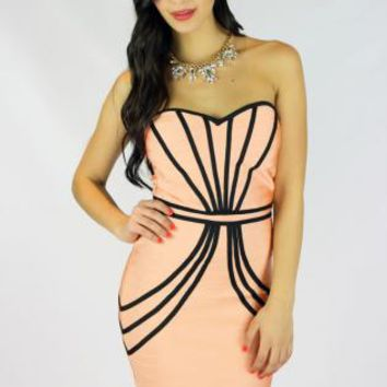 SWEETHEART BANDAGE DRESS