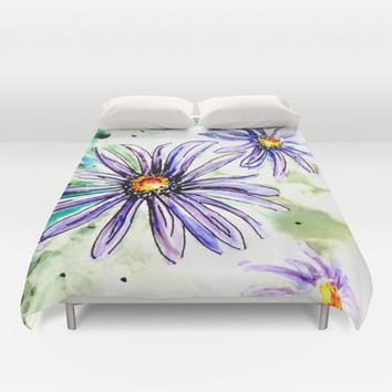Daisies Duvet Cover by Claudia McBain