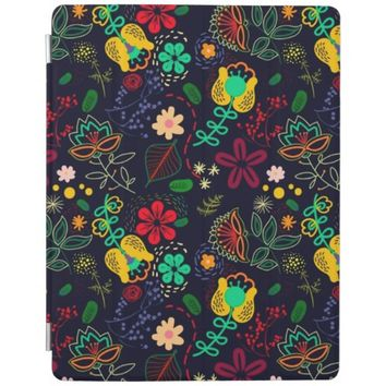 Stylish Elegant Floral Pattern Apple iPad Cover