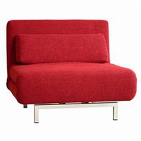 Red Convertible Lounge Chair, Contemporary Lounge Chair, Living Room Furniture: Nyfurnitureoutlets.com