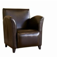 Full Leather Club Chair, Contemporary Club Chair, Living Room Furniture: Nyfurnitureoutlets.com