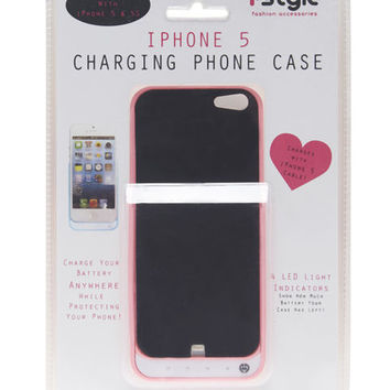 Solid iPhone 5 Charging Case  Wet Seal