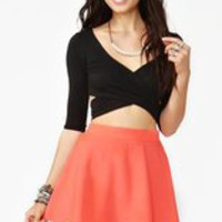 Crossed Out Crop Top  in  Clothes at Nasty Gal