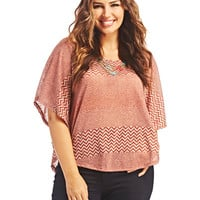Chevron Poncho | Wet Seal