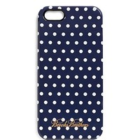 Navy and White Polka Dot iPhone 5 Case