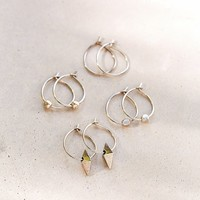 Mix Hoop Earring Set- Silver One