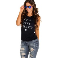 Navy Full Time Mermaid Tank