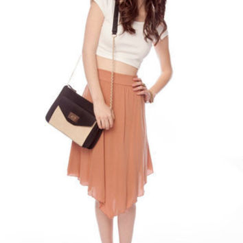 A-cute Angled Skirt :: tobi