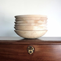 Wooden Bowl Set of Six