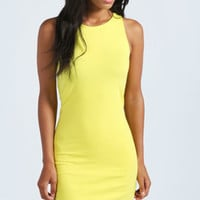 Mackenzie Racer Front Jersey Bodycon Dress