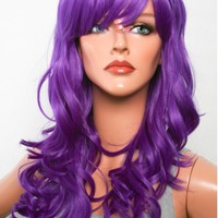 """22"""" Luxe Purple Curly Wavy Cosplay Wig"""