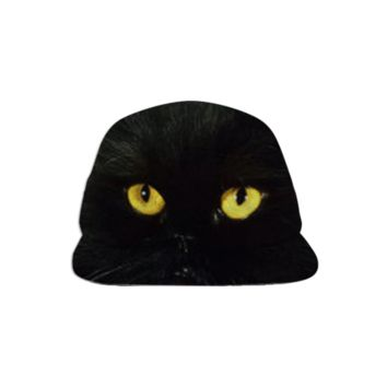 Black Cat Baseball Hat created by ErikaKaisersot | Print All Over Me