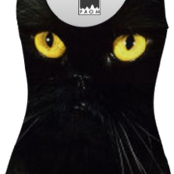 Black Cat Swimsuit created by ErikaKaisersot | Print All Over Me