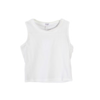 Simple High Neck Sleeveless Crop