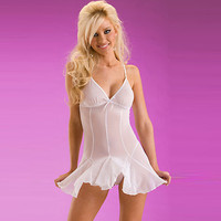 New Arrival White Satin Grenadine Chemise and Panty Set [TML0116] - £28.59 : Zentai, Sexy Lingerie, Zentai Suit, Chemise