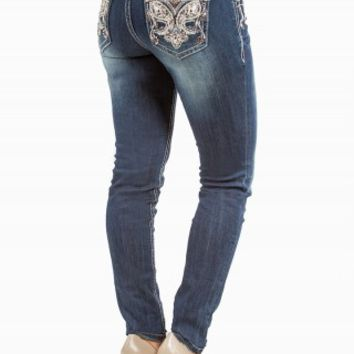 GRACE IN LA JEGGING PAISLEY JEANS