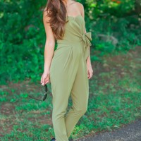 The Only Woman For You Jumpsuit-Olive