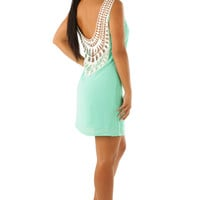 Leave A Lasting Impression Dress: Seafoam