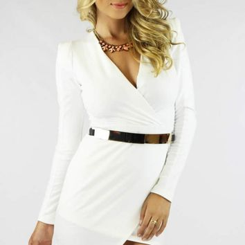 BODYCON DRESS - WHITE
