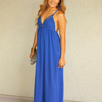 'Just Breezy' Lattice Cutout Maxi