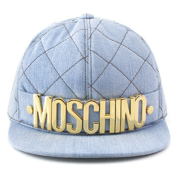 Moschino Gold Letters Denim Snapback
