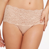 Hanky Panky Silky Skin High-Rise Brief Panty 8641 at BareNecessities.com