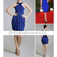 Column Straps Knee-length Sleeveless Chiffon/ Satin Golden Globe/ Evening Dress(THDLYZ267) [THDLYZ267] - $87.99 : wedding fashion, wedding dress, bridal dresses, wedding shoes