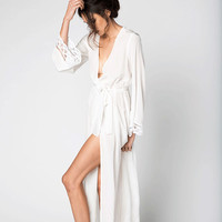 HELENA ROBE- WHITE | Stone Cold Fox