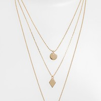 Nordstrom Triple Pendant Necklace