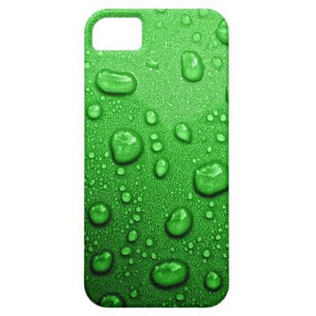 Water droplets on green background, cool & wet