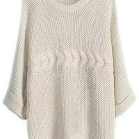 Superb Batwing-Sleeves Textured Sweaters - OASAP.com