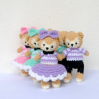 Crocheted Magical Bears  Finished Products by OneLoveCottage