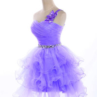 New Stock Short Formal Cocktail Party Prom Bridal Gowns Evening Homecoming Dress