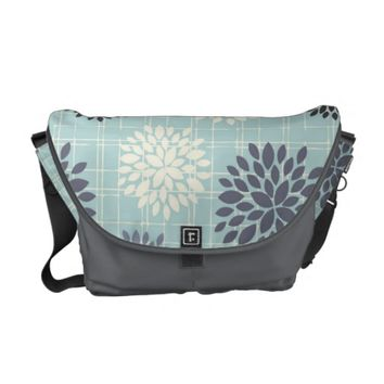 Elegant Abstract Floral Messenger Bag