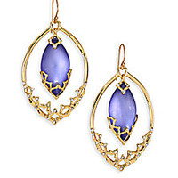 Alexis Bittar - Imperial Lucite & Crystal Georgian Lace Orbiting Wire Drop Earrings - Saks Fifth Avenue Mobile