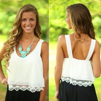 Pretty Little Lace Crop Top
