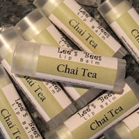 Chai Tea Lip Balm  One Tube of Beeswax Lip Balm by LeesBeesNJ