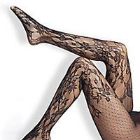 Wolford - Evelyn Lace Tights - Saks Fifth Avenue Mobile