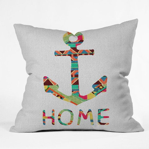 """You Make Me Home"" Throw Pillow by Bianca Green  