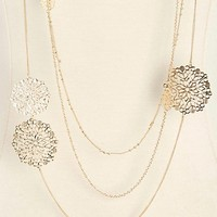 Triple Layered Filigree Necklace