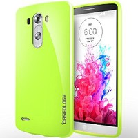 [Drop Protection] Caseology LG G3 [Lime Green] Slim Fit Skin Cover [Shock Absorbent] TPU Bumper Case [Made in Korea] (for Verizon, AT&T Sprint, T-mobile, Unlocked)