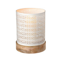 Rustic Lace Candleholder in Ivory
