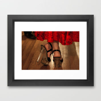 Red Dress Framed Art Print by Legends of Darkness