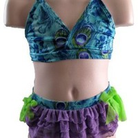 FRANKIE & DAISY Surfin' Birds Peacock Bikini Swimsuit By Corky and Company