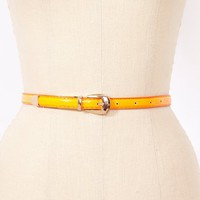 Neon Patent Skinny Belt in  Accessories at Nasty Gal
