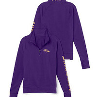 Baltimore Ravens Athletic Half-Zip Pullover - PINK - Victoria's Secret